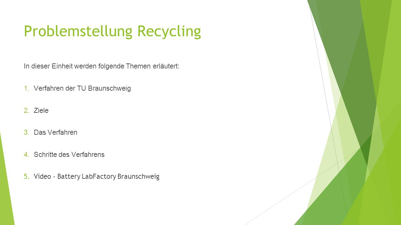 Problemstellung Recycling