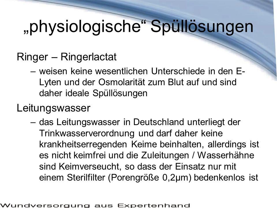 """""""physiologische Spüllösungen"""