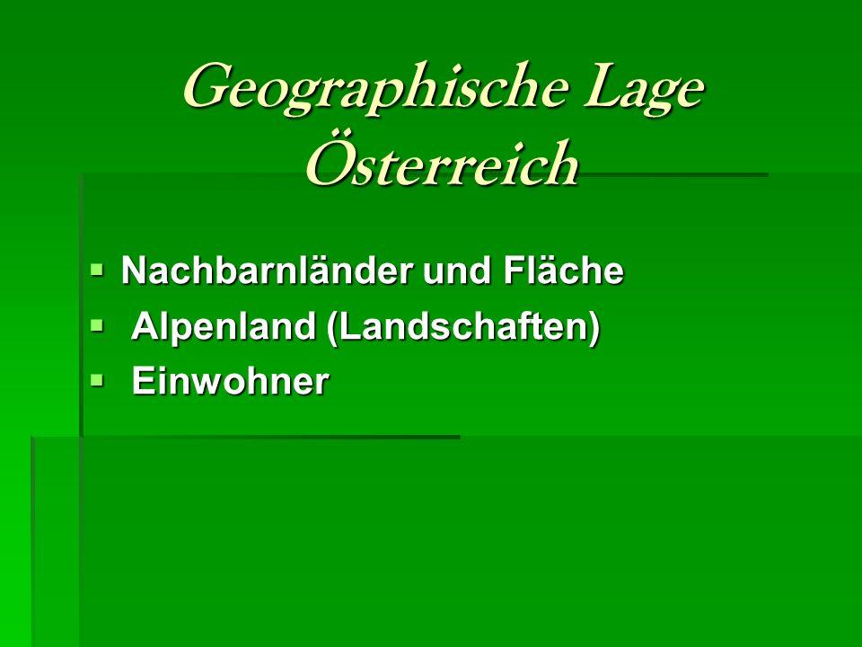 Geographische Lage Österreich