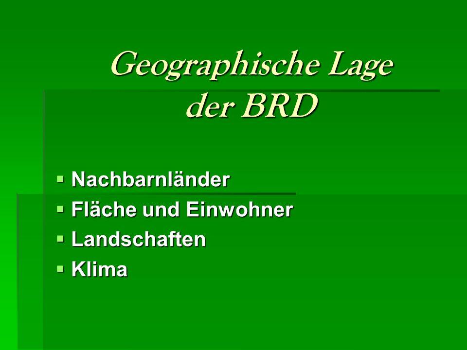 Geographische Lage der BRD