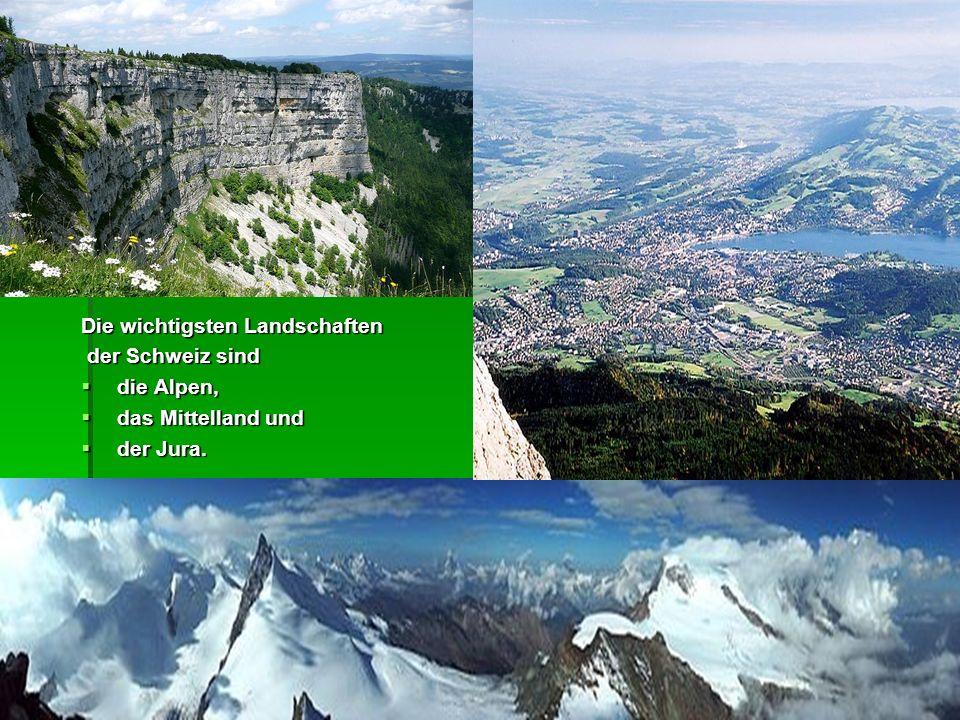 Die wichtigsten Landschaften