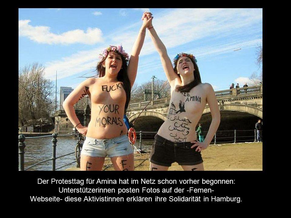 Webseite- diese Aktivistinnen erklären ihre Solidarität in Hamburg.