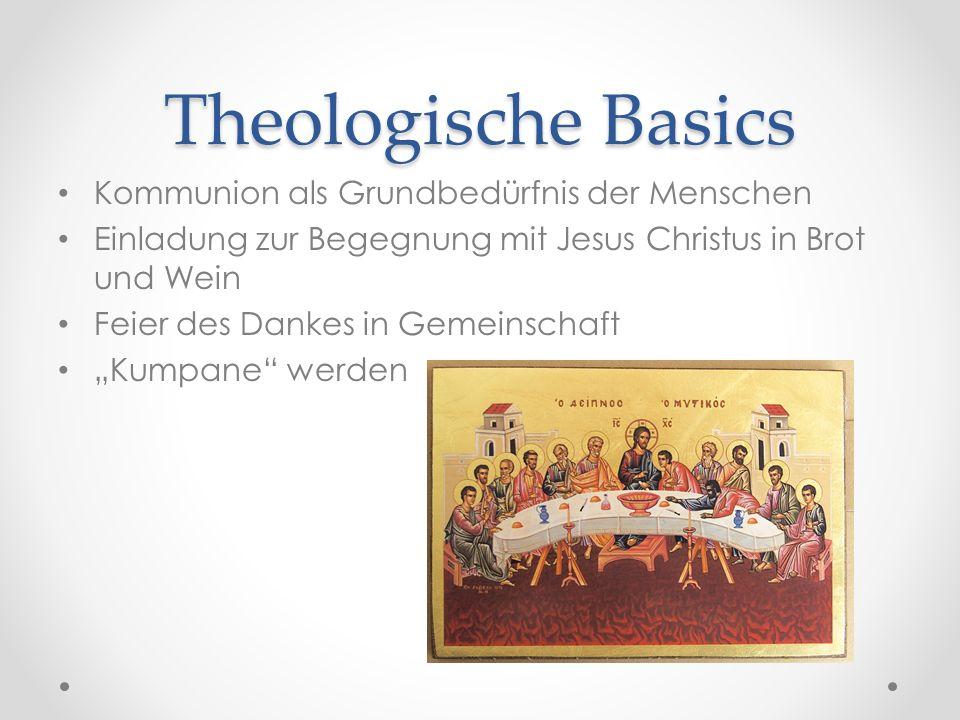 Theologische Basics Kommunion als Grundbedürfnis der Menschen