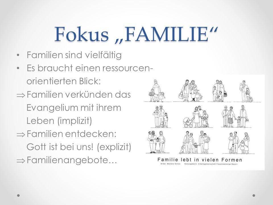 """Fokus """"FAMILIE Familien sind vielfältig Es braucht einen ressourcen-"""
