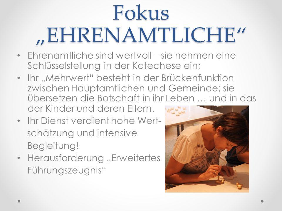 """Fokus """"EHRENAMTLICHE"""