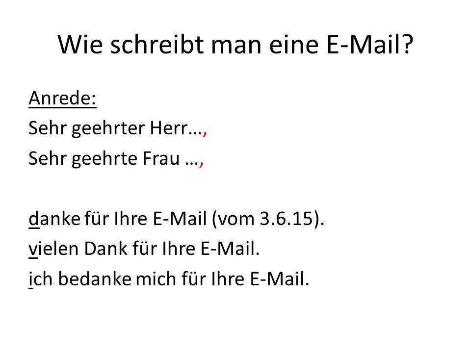Wie schreibt man eine E-Mail