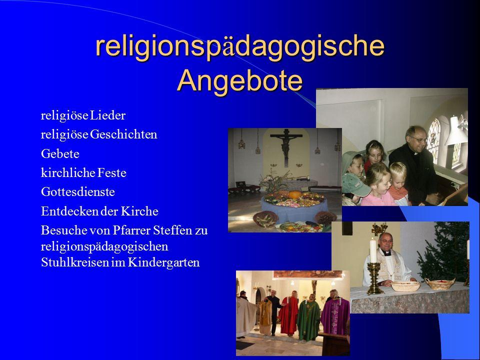 religionspädagogische Angebote