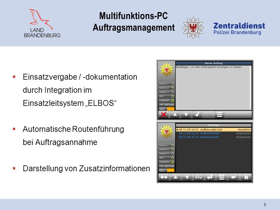 Multifunktions-PC Auftragsmanagement
