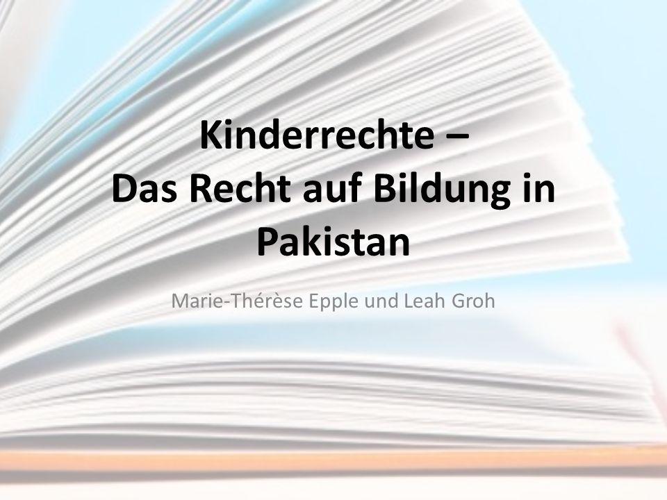 Kinderrechte – Das Recht auf Bildung in Pakistan