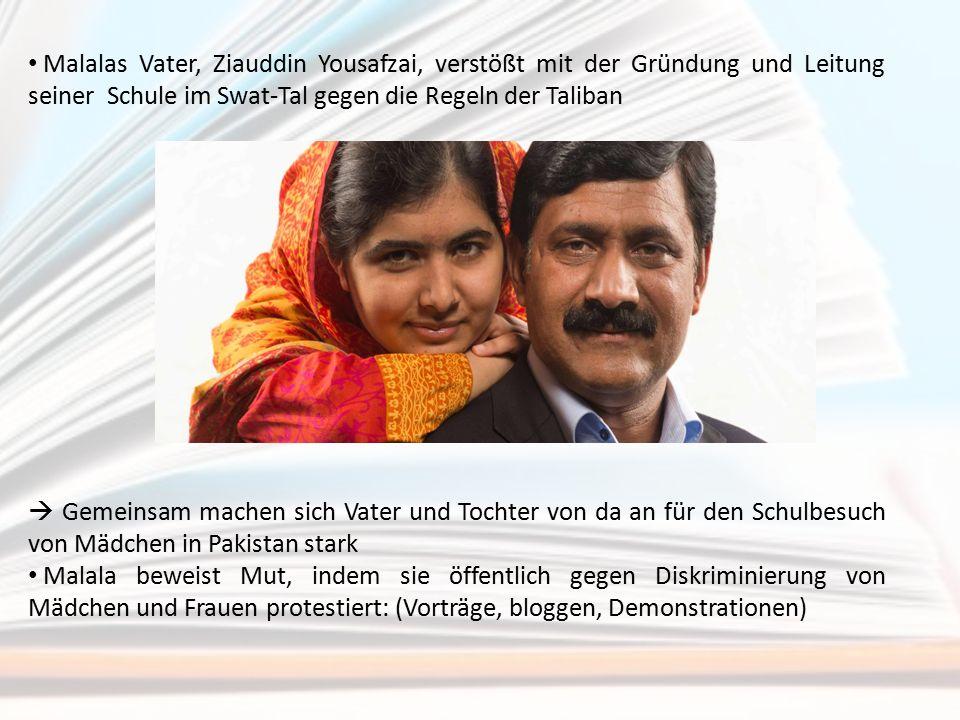 Malalas Vater, Ziauddin Yousafzai, verstößt mit der Gründung und Leitung seiner Schule im Swat-Tal gegen die Regeln der Taliban