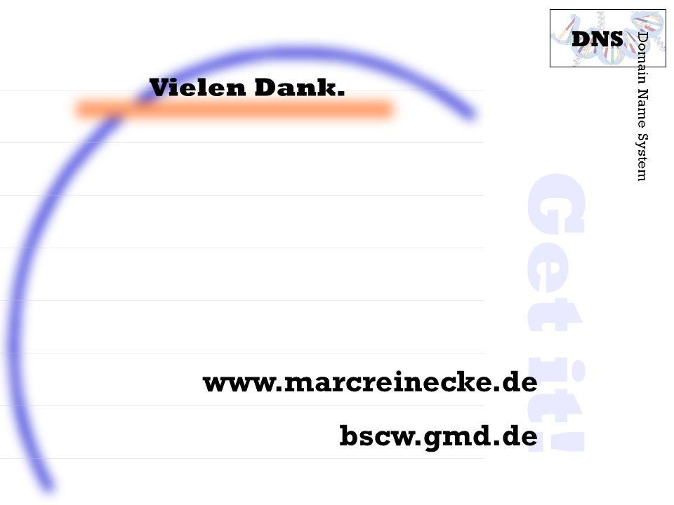 Get it! www.marcreinecke.de bscw.gmd.de Vielen Dank. DNS