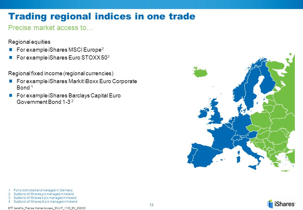 Trading regional indices in one trade
