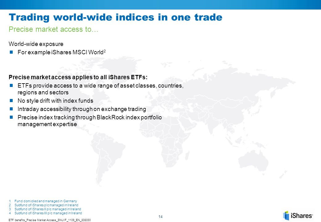 Trading world-wide indices in one trade