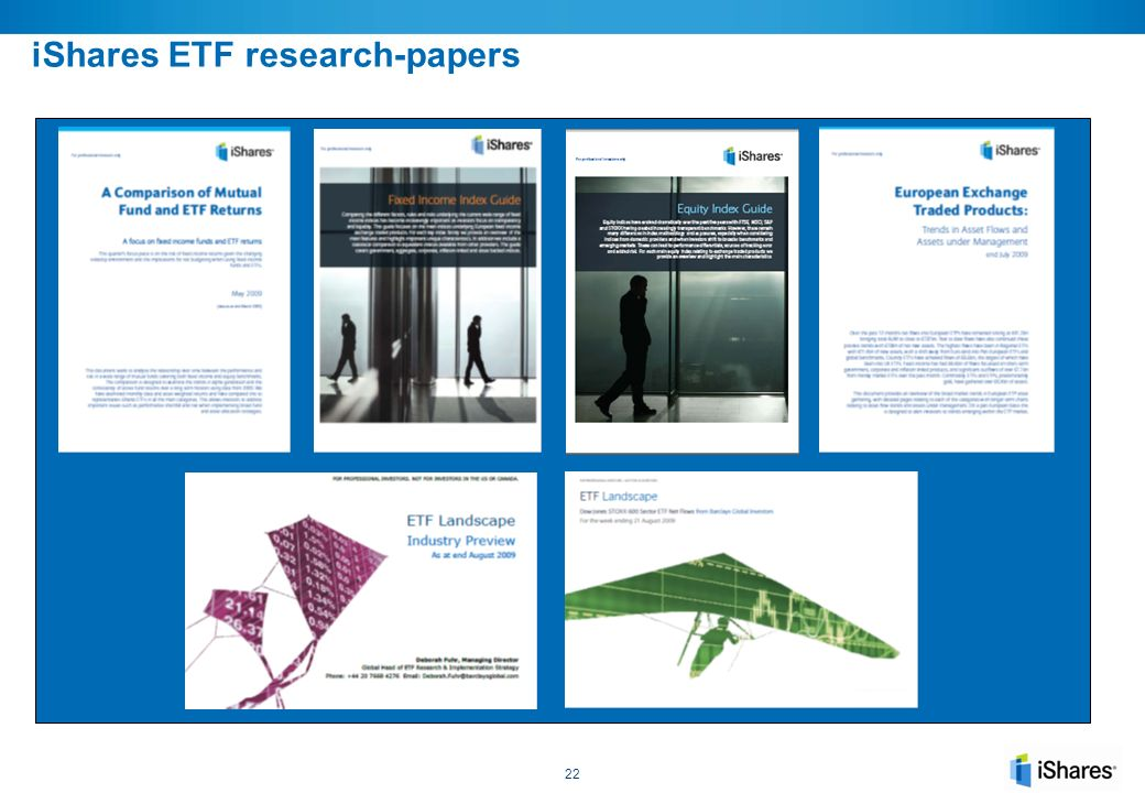 research papers on etfs Research paper on exchange traded funds, jan 23, 2017 exchange traded funds (etfs) have emerged as a new investment vehicle in the mutual fund industry providing.