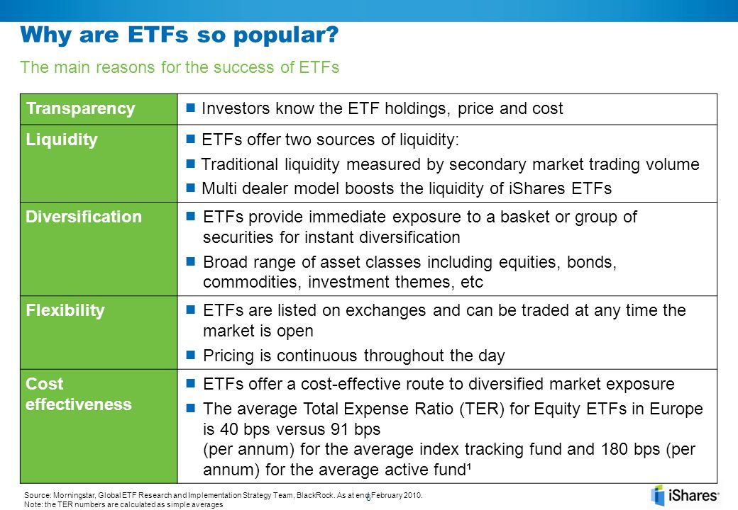 Why are ETFs so popular The main reasons for the success of ETFs