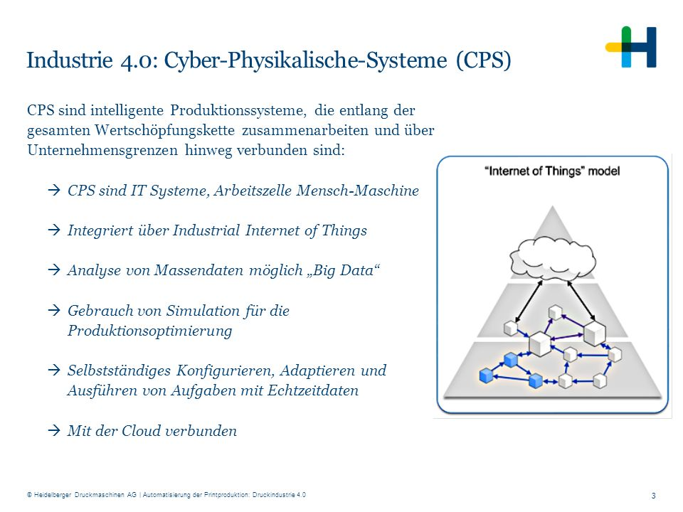 Industrie 4.0: Cyber-Physikalische-Systeme (CPS)