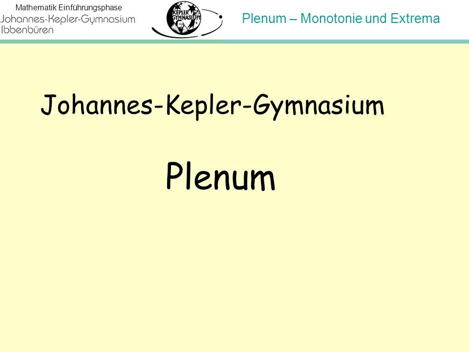 Plenum Johannes-Kepler-Gymnasium Hinweis für den Lehrer:
