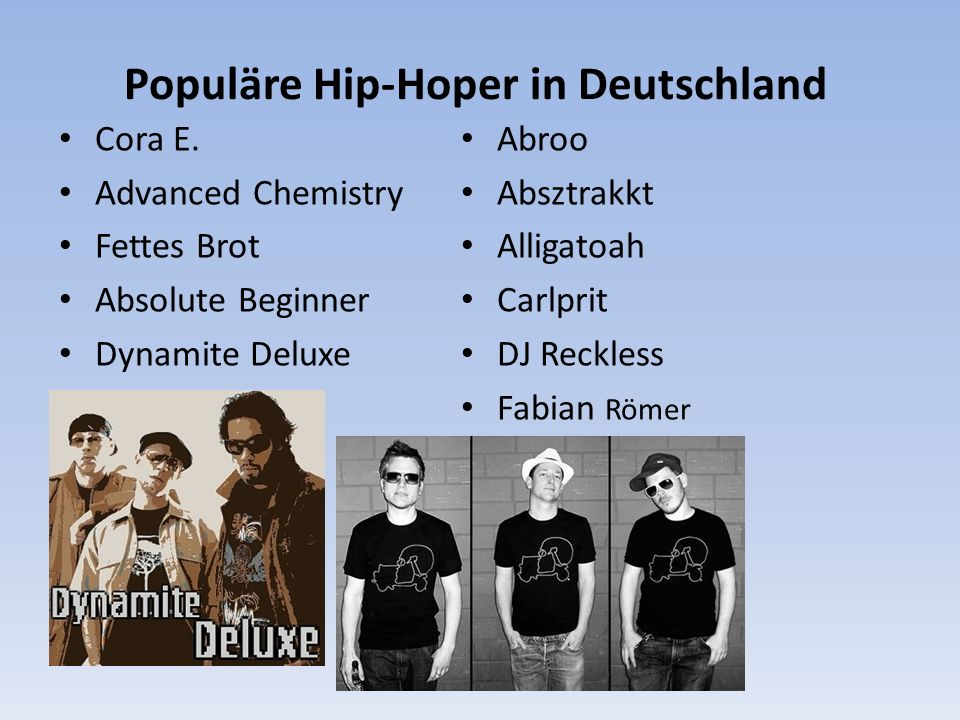 Populäre Hip-Hoper in Deutschland