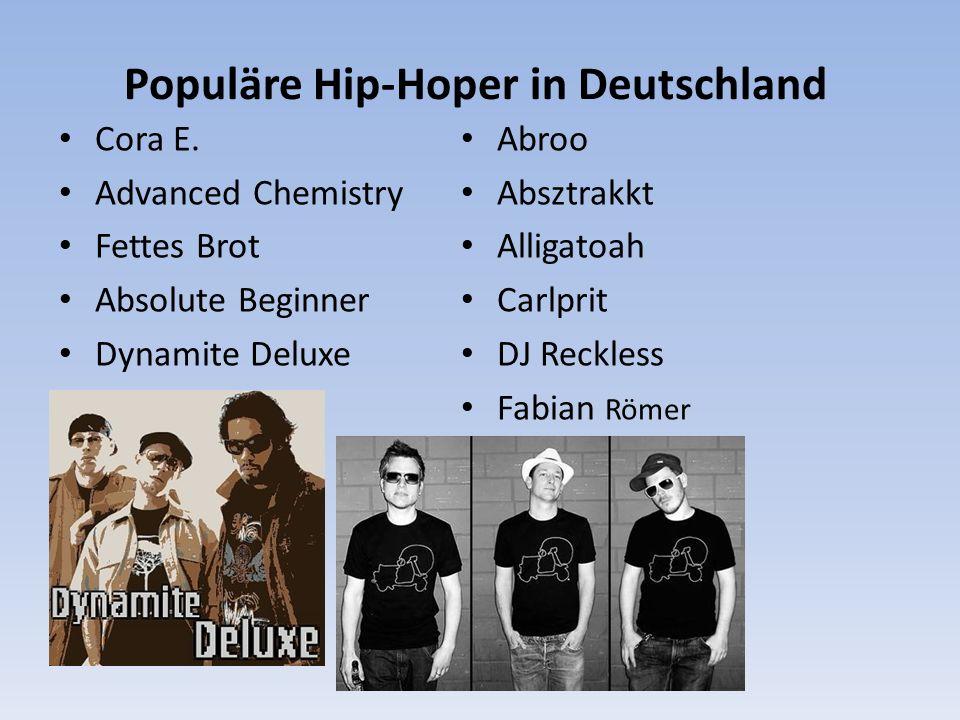 Populäre Hip-Hoper in Deutschland