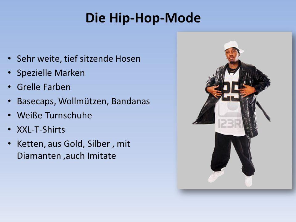 Die Hip-Hop-Mode Sehr weite, tief sitzende Hosen Spezielle Marken