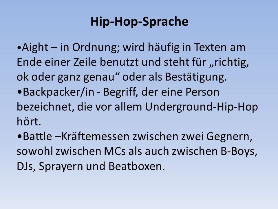 Hip-Hop-Sprache