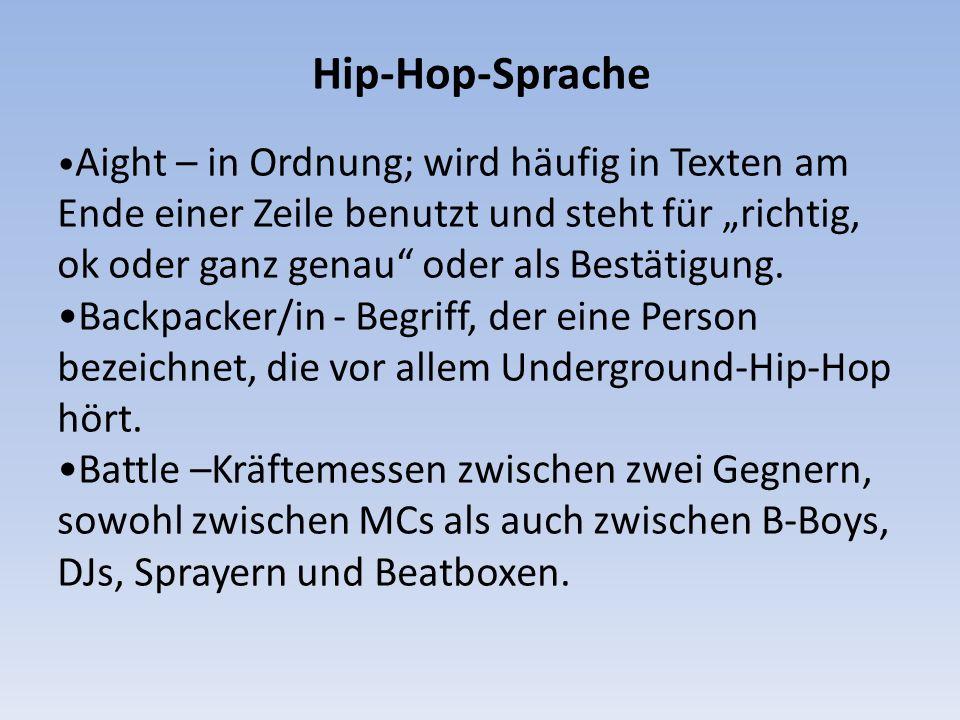 Hip-Hop-Sprache