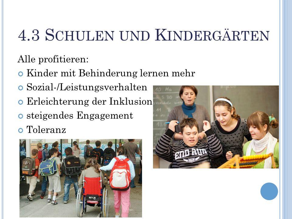 4.3 Schulen und Kindergärten