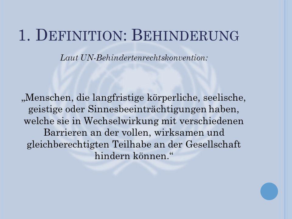 1. Definition: Behinderung