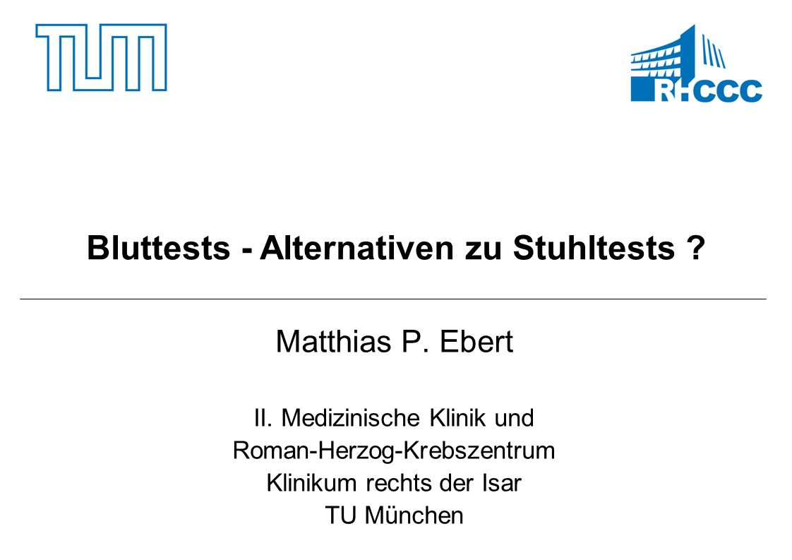 Bluttests - Alternativen zu Stuhltests
