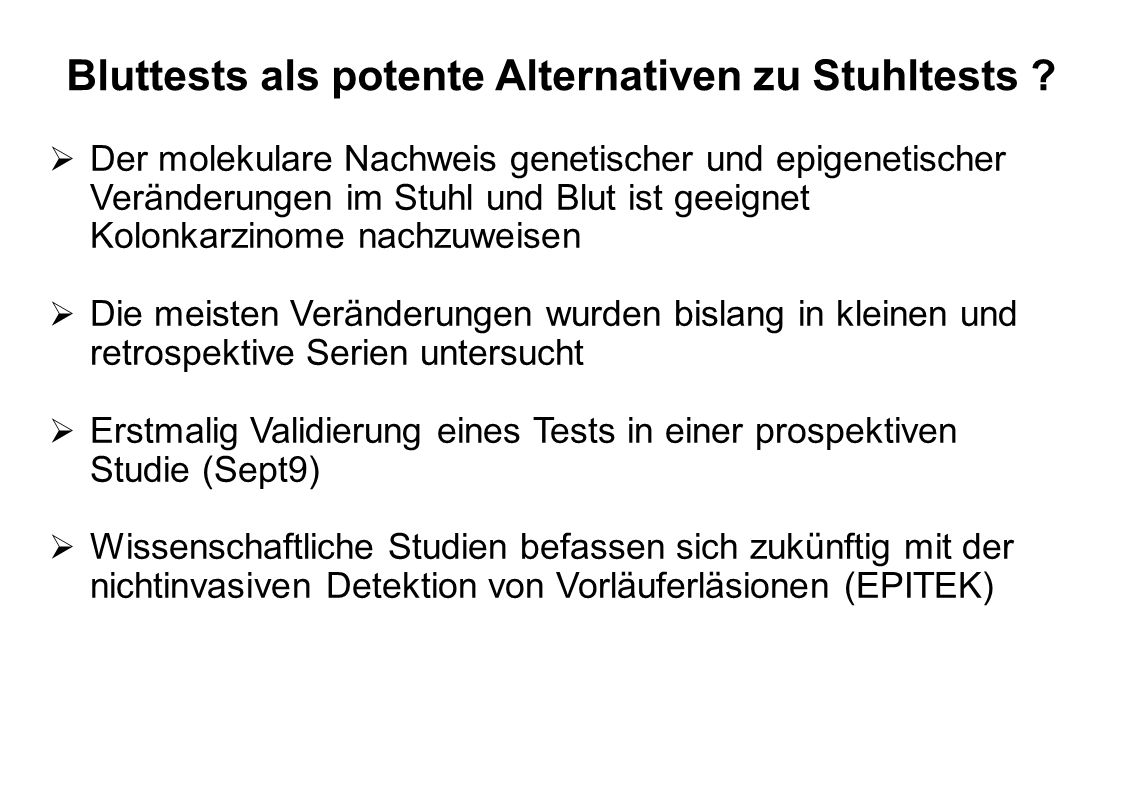 Bluttests als potente Alternativen zu Stuhltests