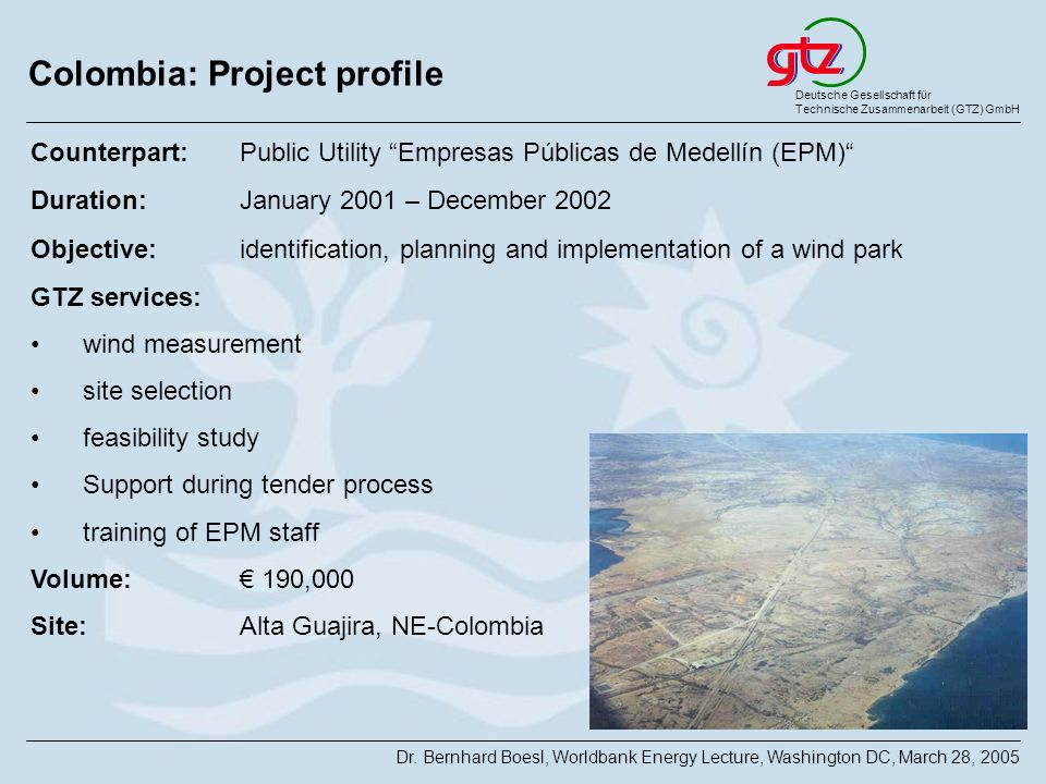 Colombia: Project profile