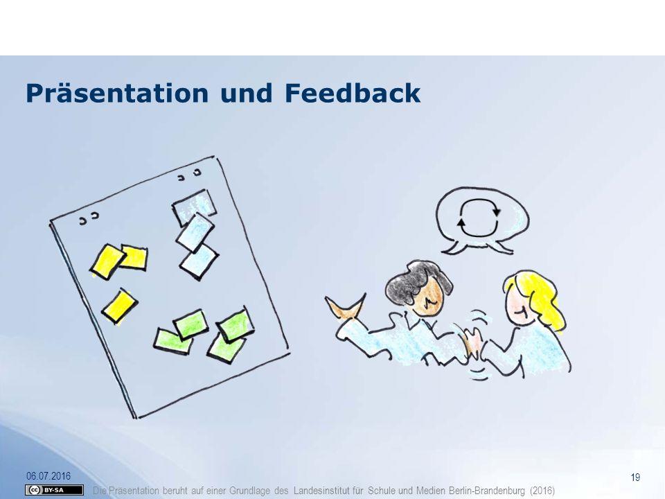 Präsentation und Feedback