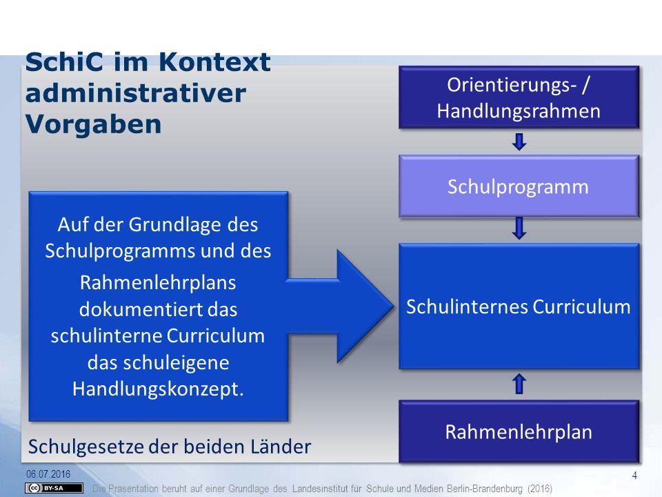 SchiC im Kontext administrativer Vorgaben