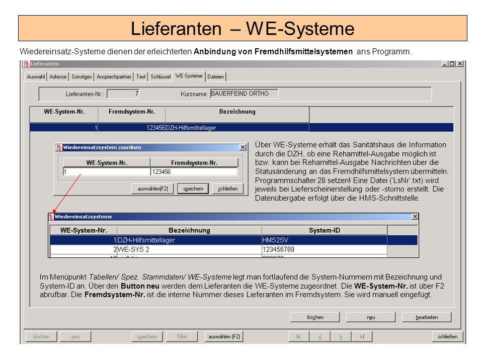 Lieferanten – WE-Systeme