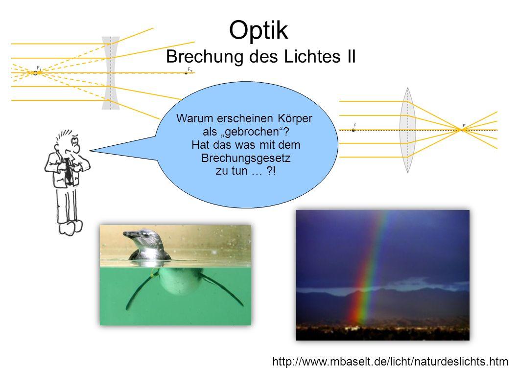 Brechung des Lichtes II