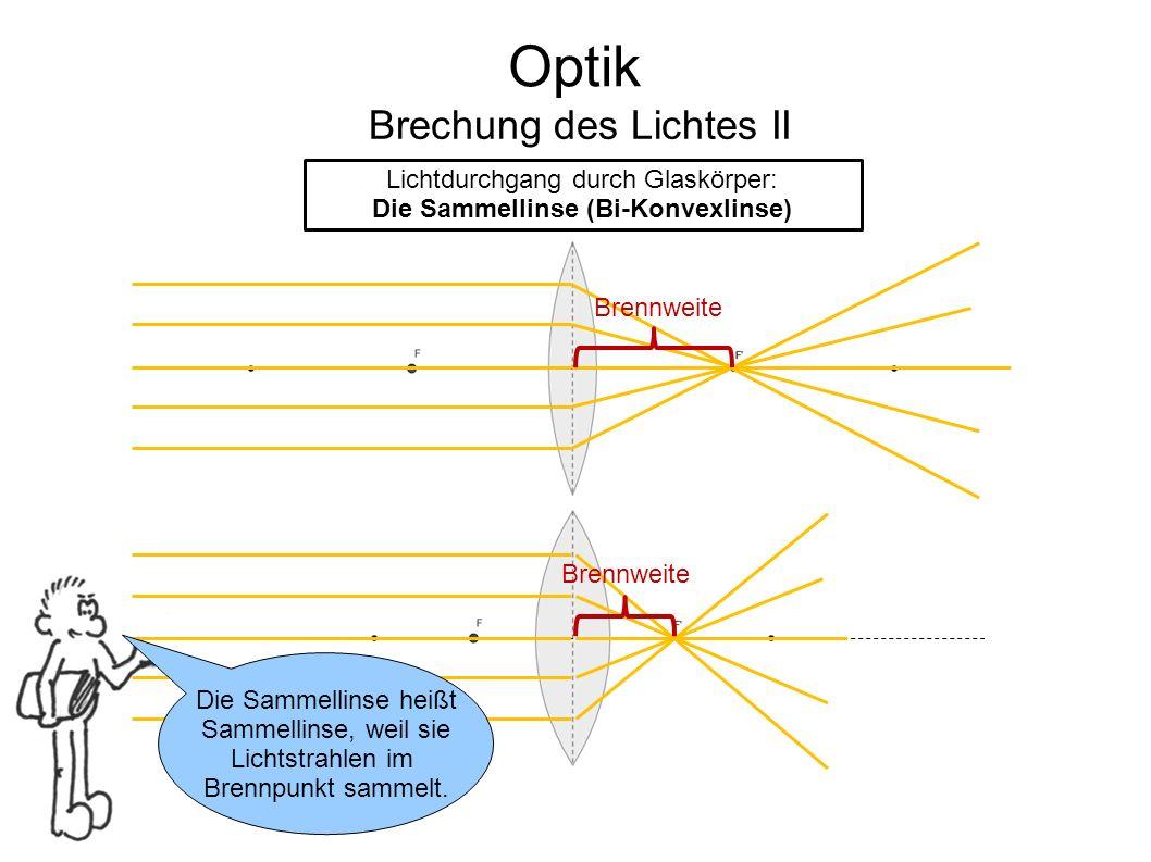 Die Sammellinse (Bi-Konvexlinse)