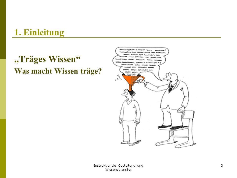 Instruktionale Gestaltung und Wissenstransfer