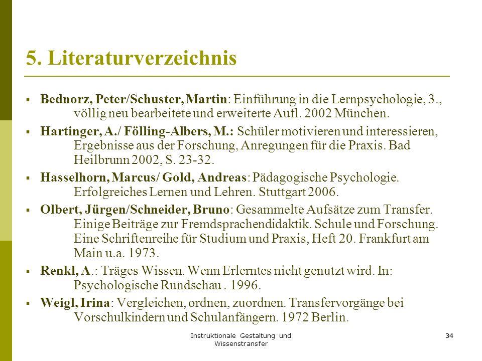 5. Literaturverzeichnis