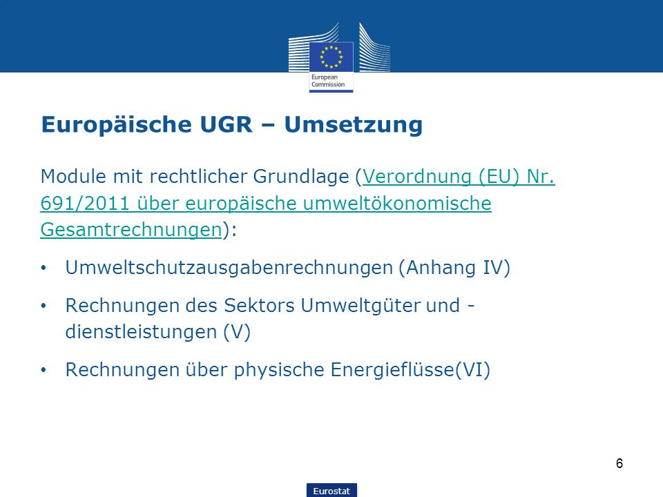Europäische UGR – Umsetzung