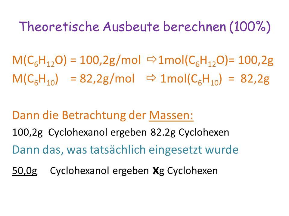 Theoretische Ausbeute berechnen (100%)