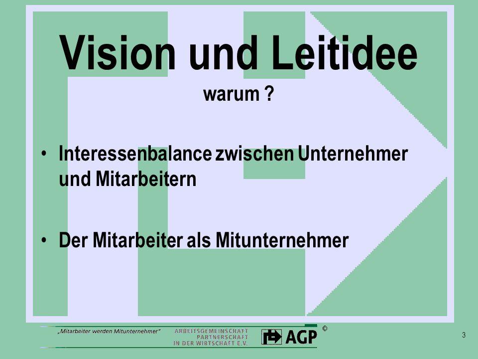 Vision und Leitidee warum