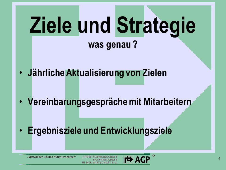Ziele und Strategie was genau