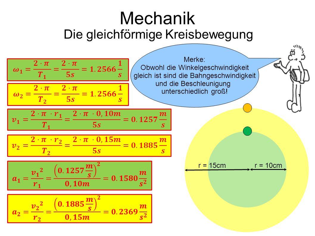 Die gleichförmige Kreisbewegung
