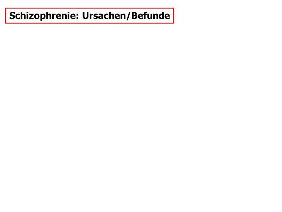Schizophrenie: Ursachen/Befunde