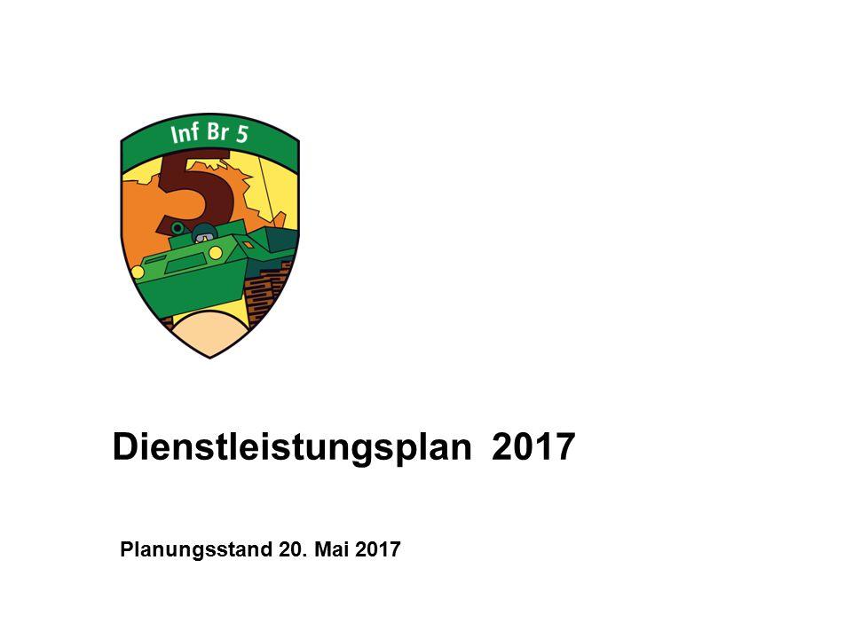 Dienstleistungsplan 2017 Planungsstand 20. Mai 2017