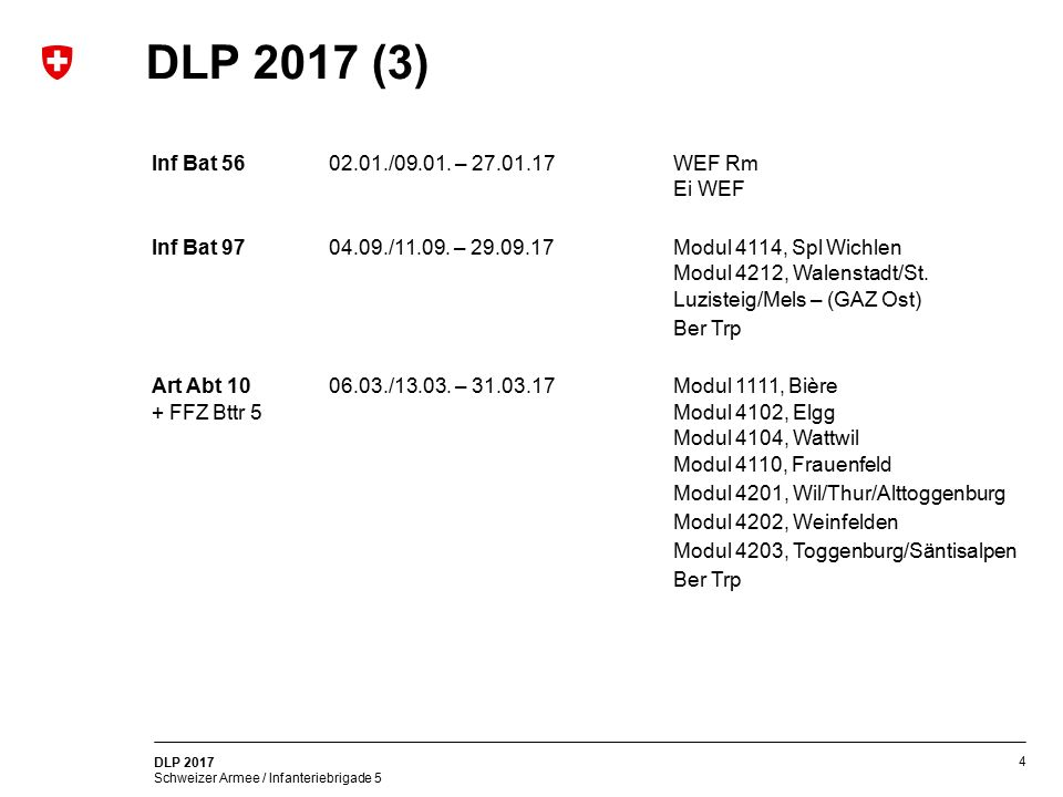 DLP 2017 (3) Inf Bat 56 02.01./09.01. – 27.01.17 WEF Rm Ei WEF