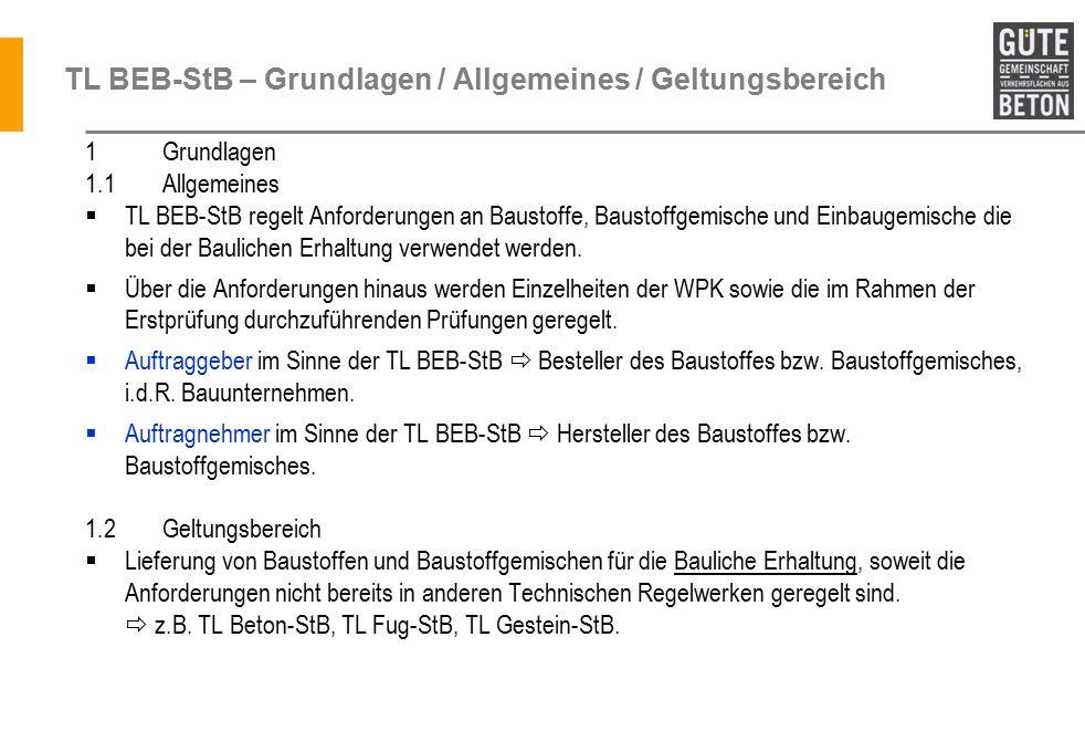 TL BEB-StB – Grundlagen / Allgemeines / Geltungsbereich
