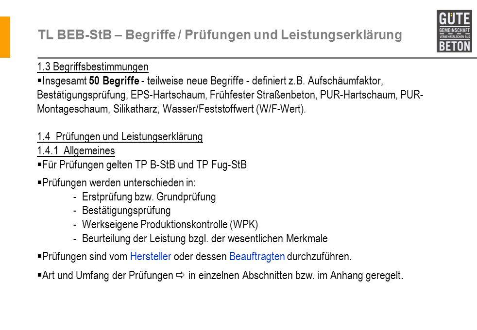 TL BEB-StB – Begriffe / Prüfungen und Leistungserklärung