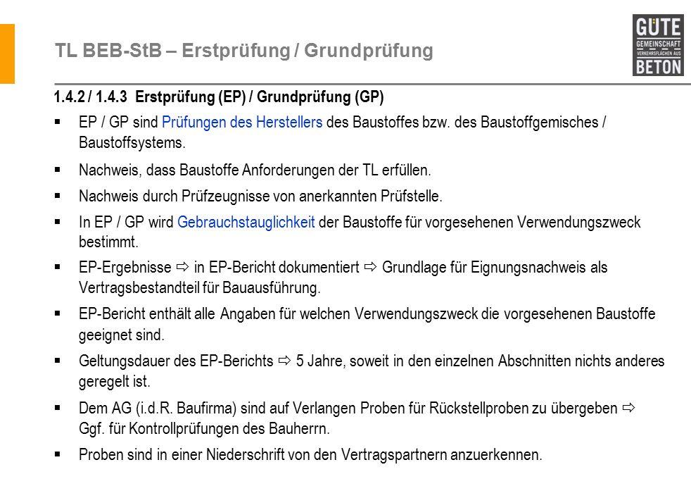TL BEB-StB – Erstprüfung / Grundprüfung