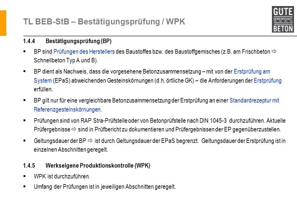 TL BEB-StB – Bestätigungsprüfung / WPK